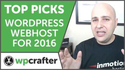 Best WordPress Web Host Website For 2016