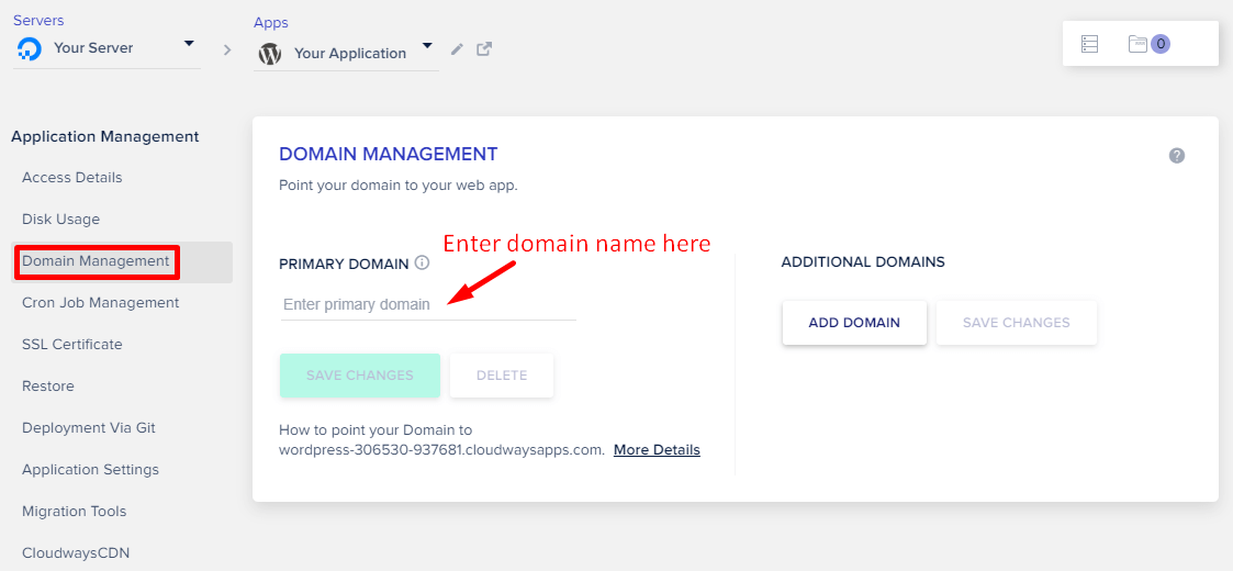 Cloudways Add Domain