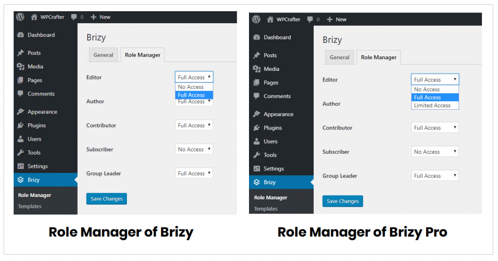 Role manager free vs. pro