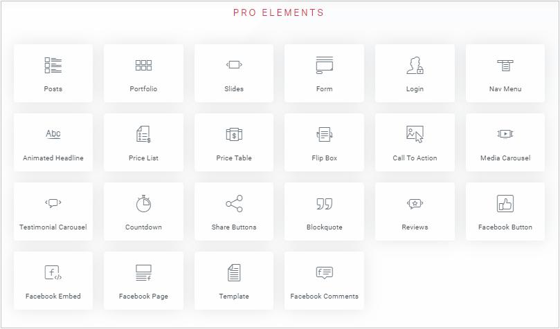 Elementor Pro modules