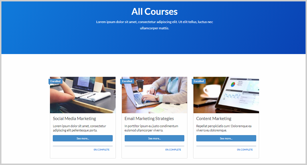learndash academy all courses