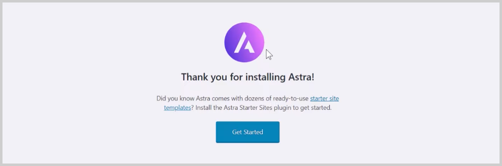 get started with astra site