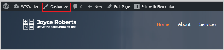 customize theme frontend