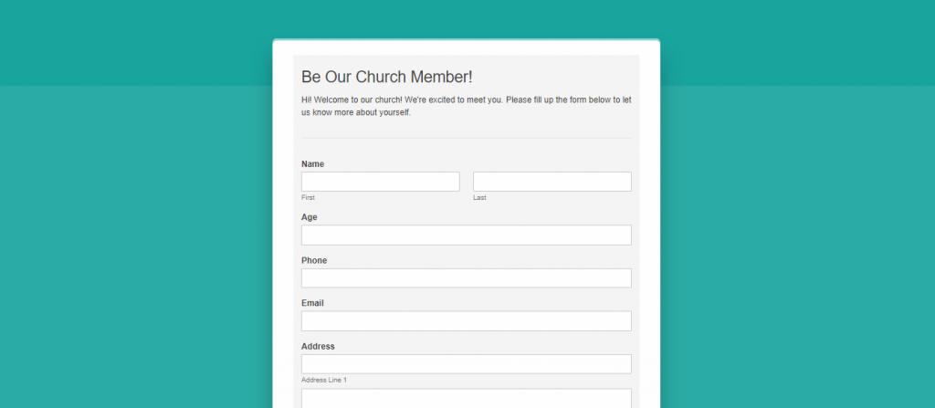 form page modern design