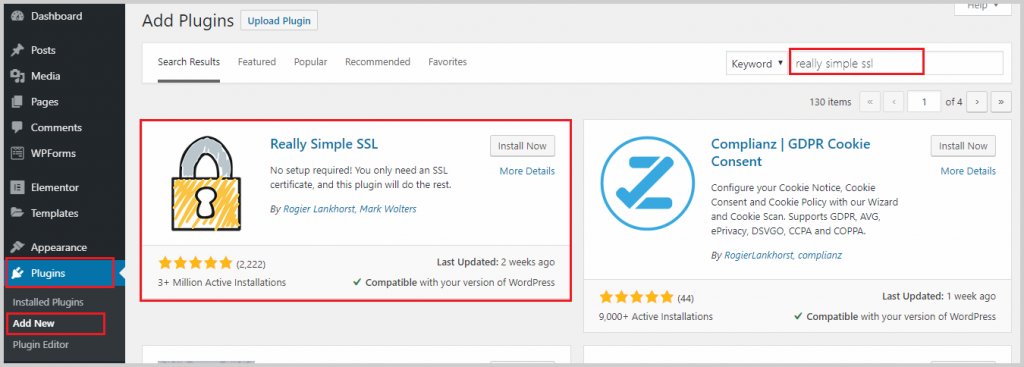 install really simple ssl