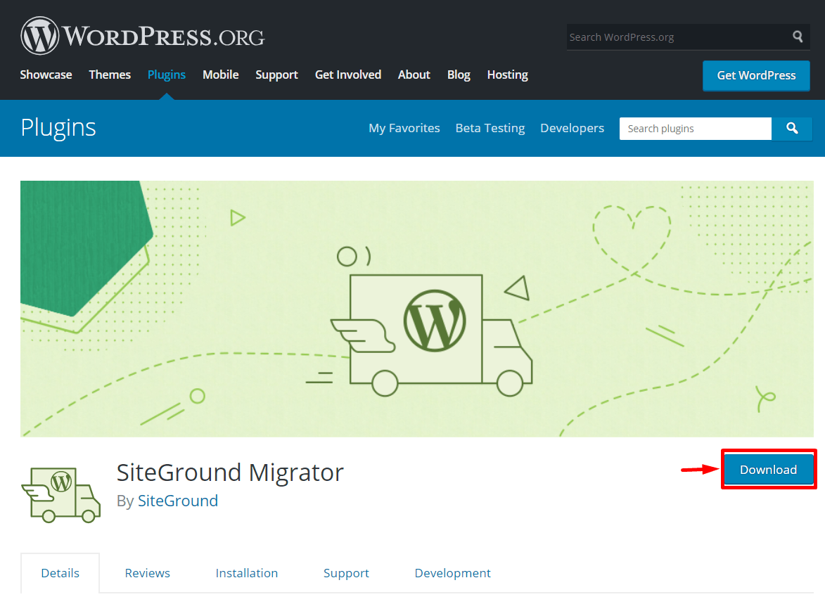 SiteGround Migrator Plug-in