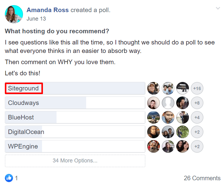 SiteGround Tops Facebook Group Survey 1