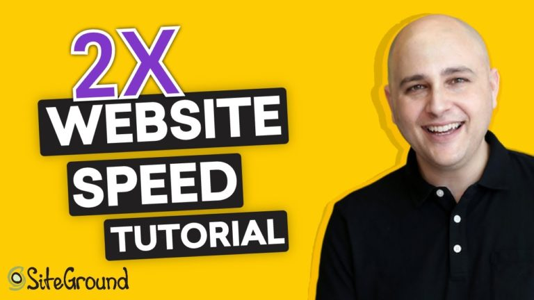 How To Double Your Website Speed SiteGround Tutorial
